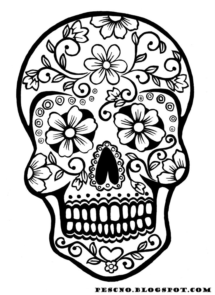 free adult coloring pages sugar skull 01