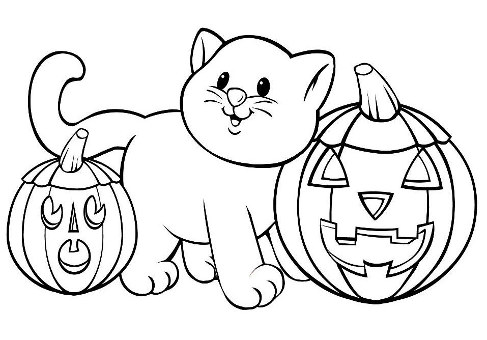 free halloween coloring worksheets