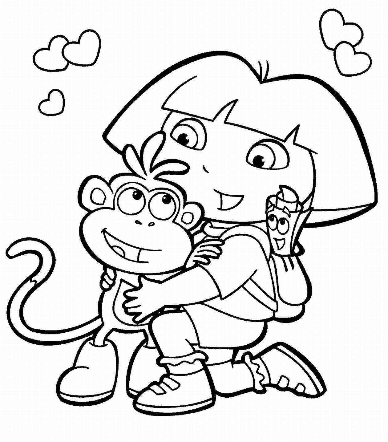 Free printable coloring pages for kids only coloring pages for Free printable cartoon coloring pages