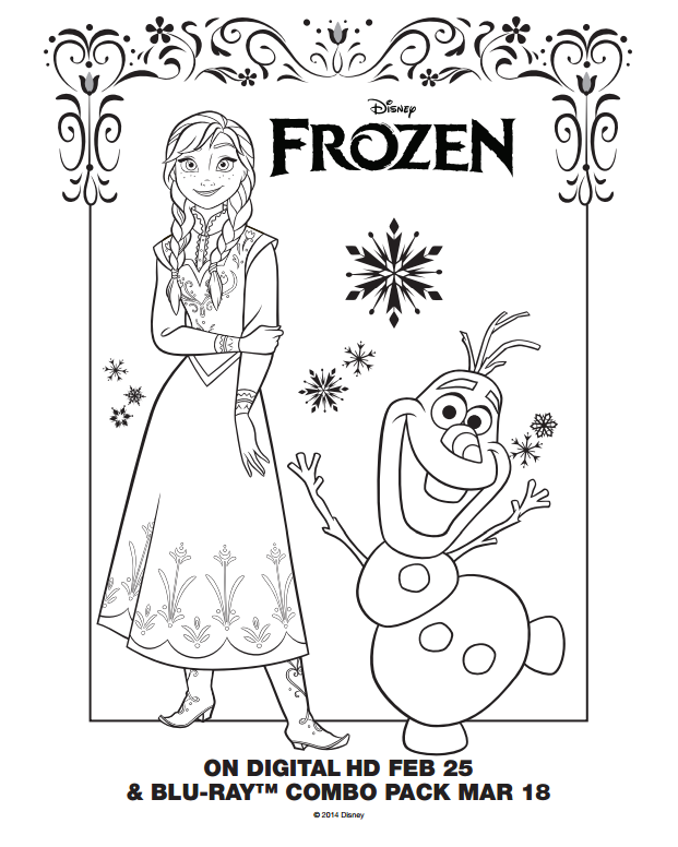 frozen coloring pages pdf 01