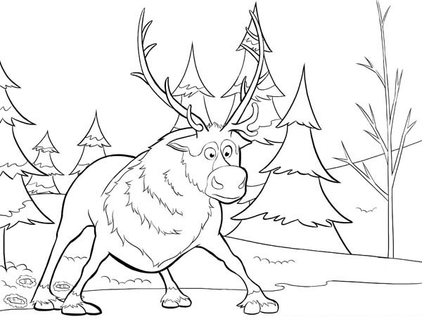 frozen coloring pages sven