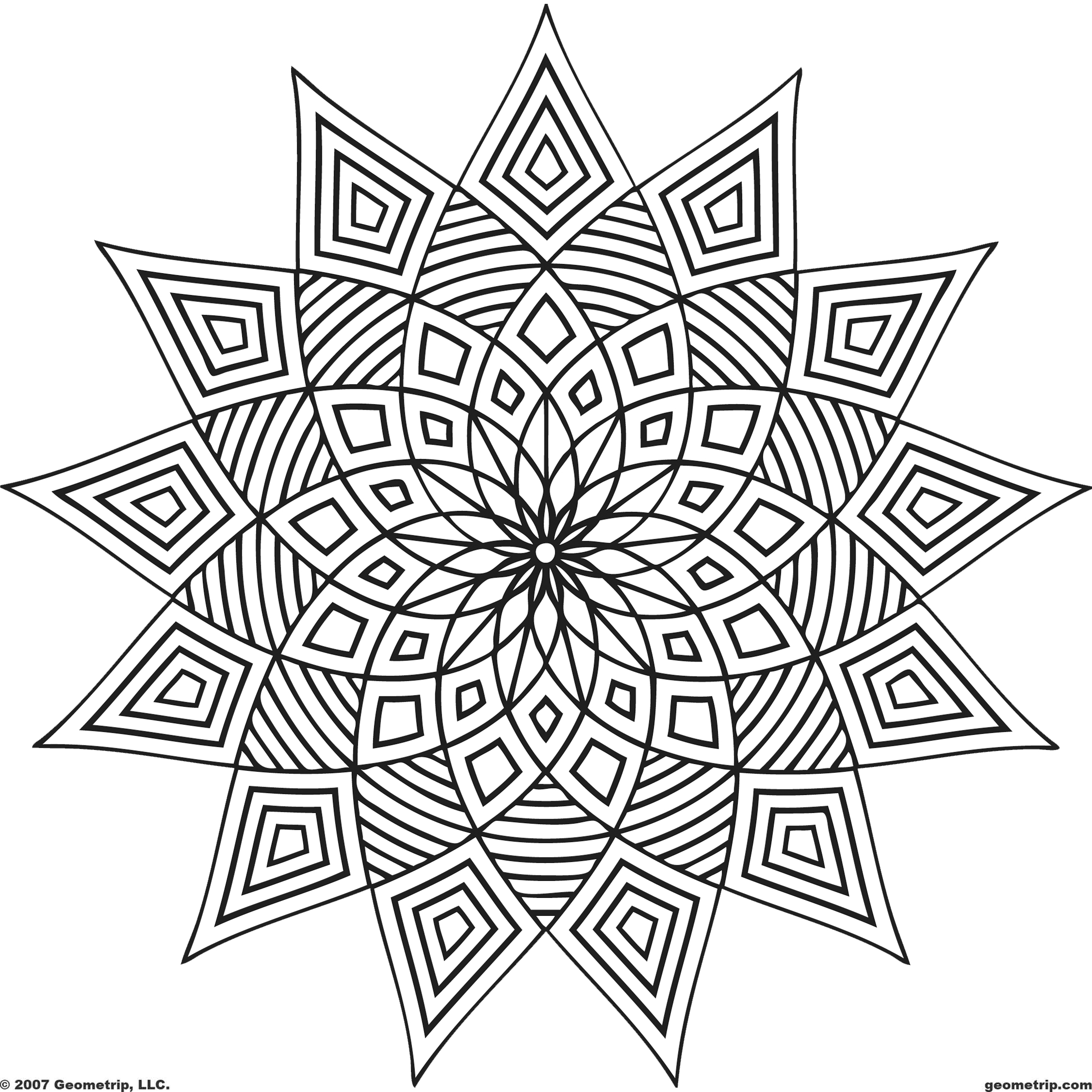 Geometric Coloring Pages Pdf 01