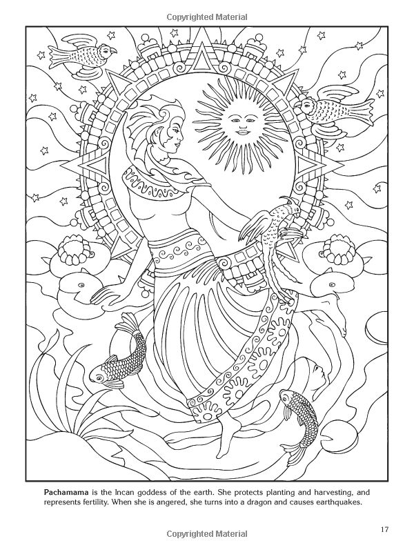 Goddess Coloring Page Only Pages