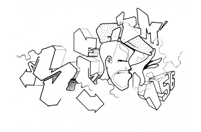 graffiti coloring book 01