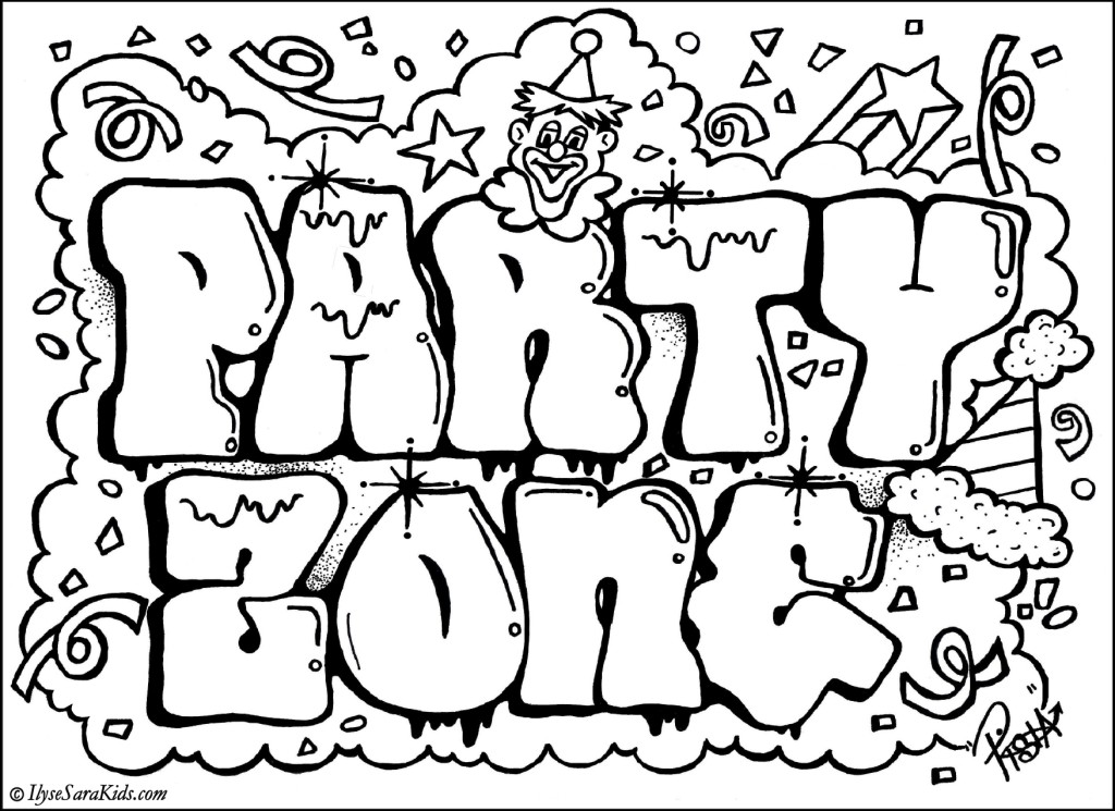 Graffiti Coloring Pages 01