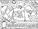 graffiti coloring pages names