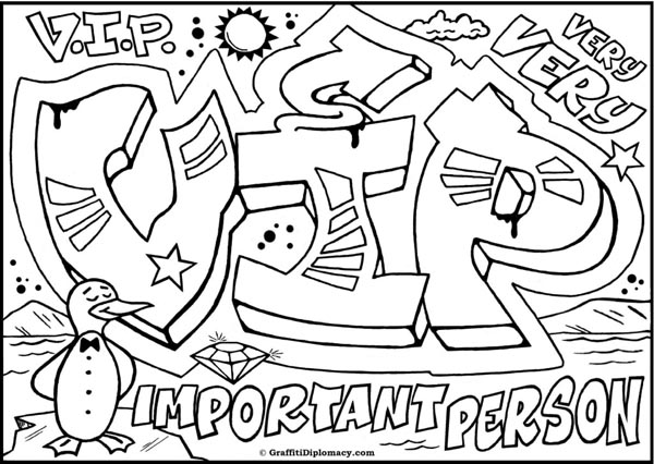 Graffiti Coloring Pages Names 01