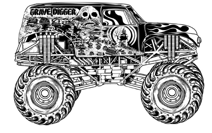grave digger coloring pages 01