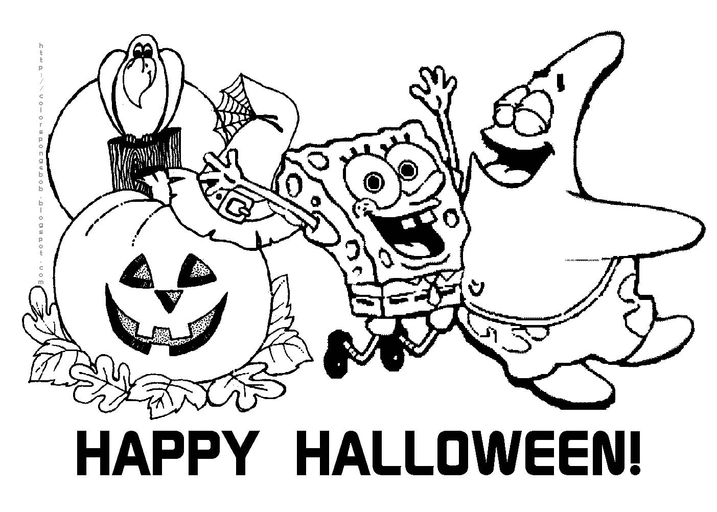 Halloween Coloring Pages Print Only
