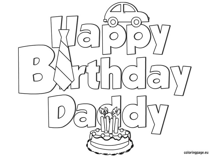 happy birthday coloring pages for dad  Wallpaper HD  Muscle Car