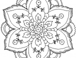 hard flower coloring pages for teenagers