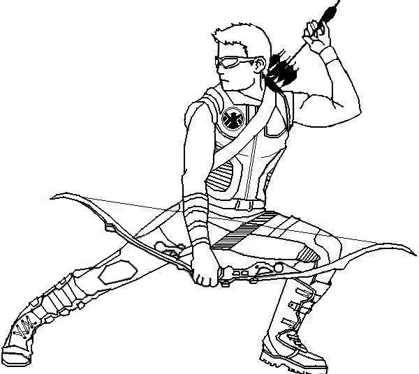 hawkeye coloring pages 01