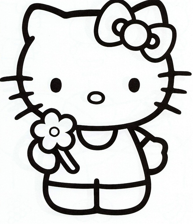 hello kitty coloring pages for kids to print out