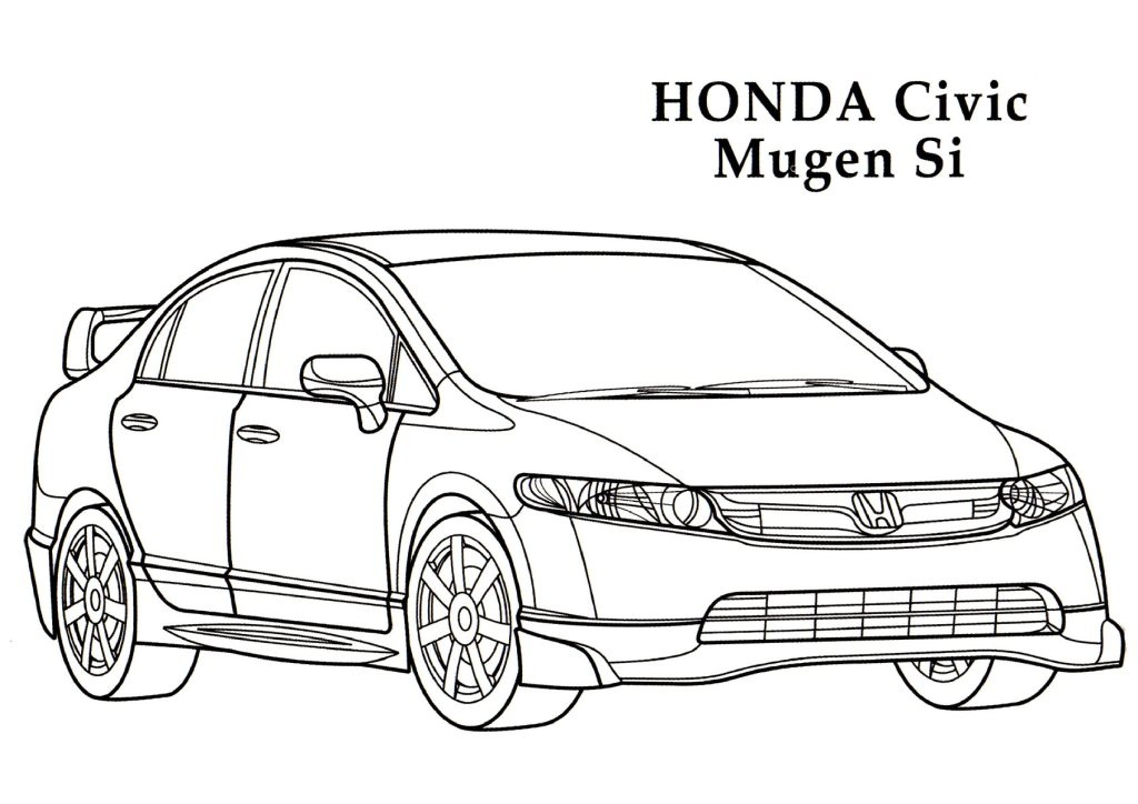 honda coloring pages 01