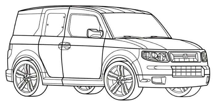 honda odyssey coloring pages coloring pages