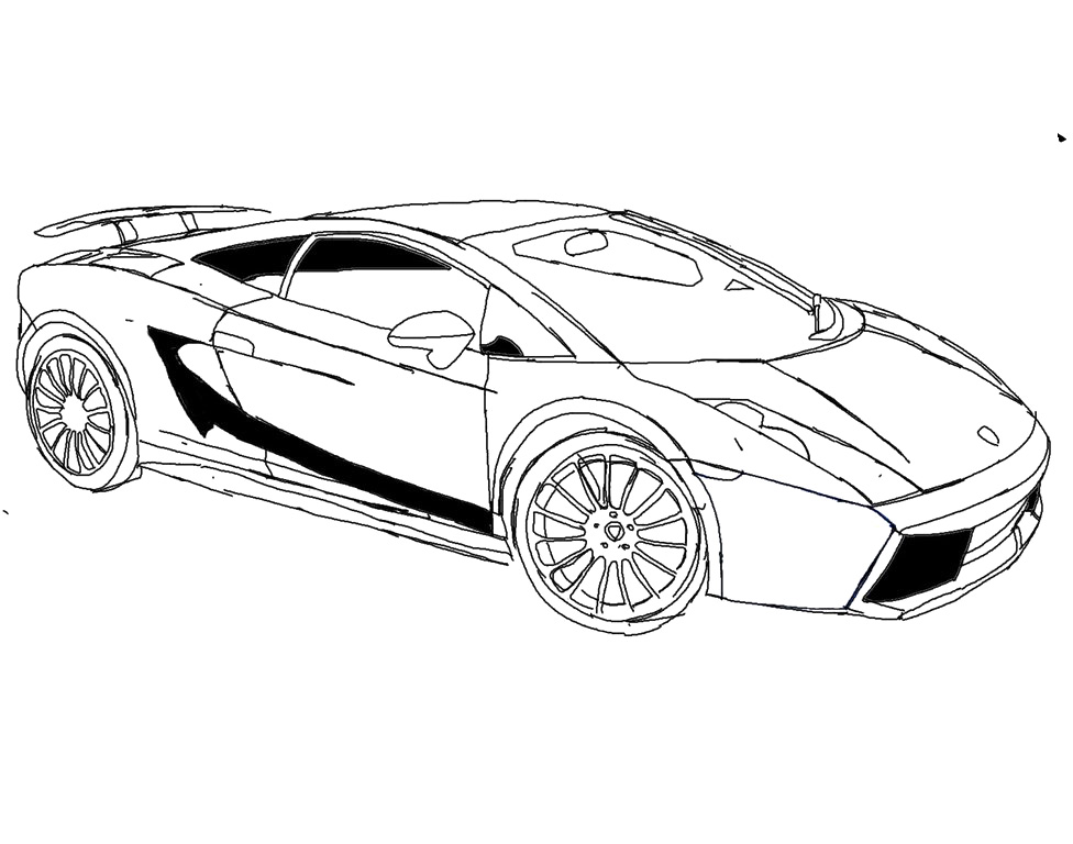 Lamborghini coloring pages only coloring pages for Lambo coloring pages