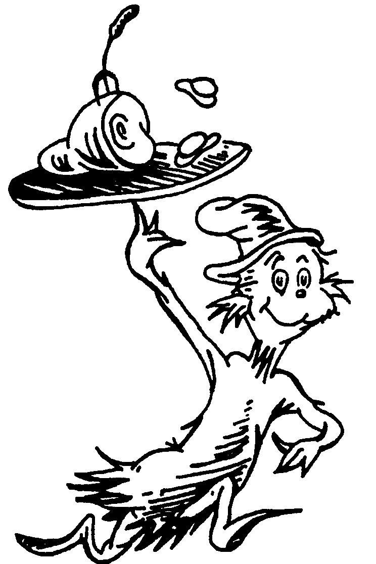 Latest Seuss Characters Coloring Pages 01