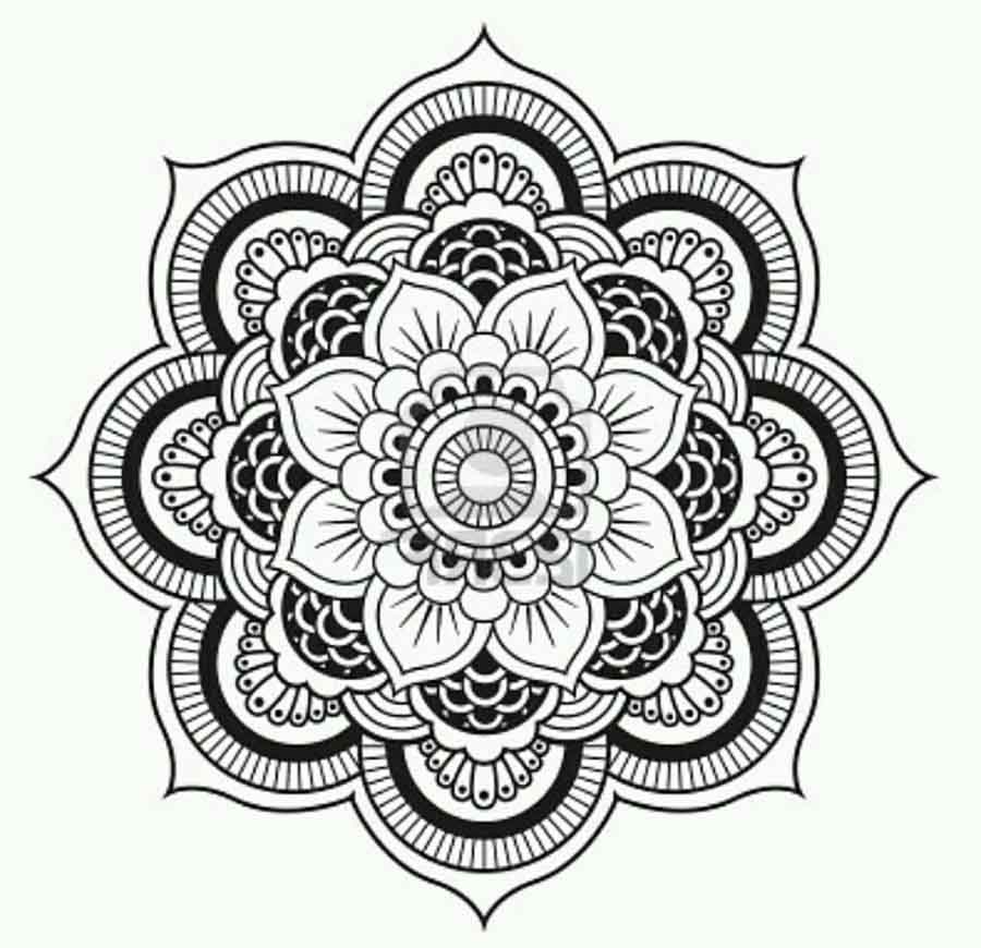 lotus flower mandala coloring pages 01