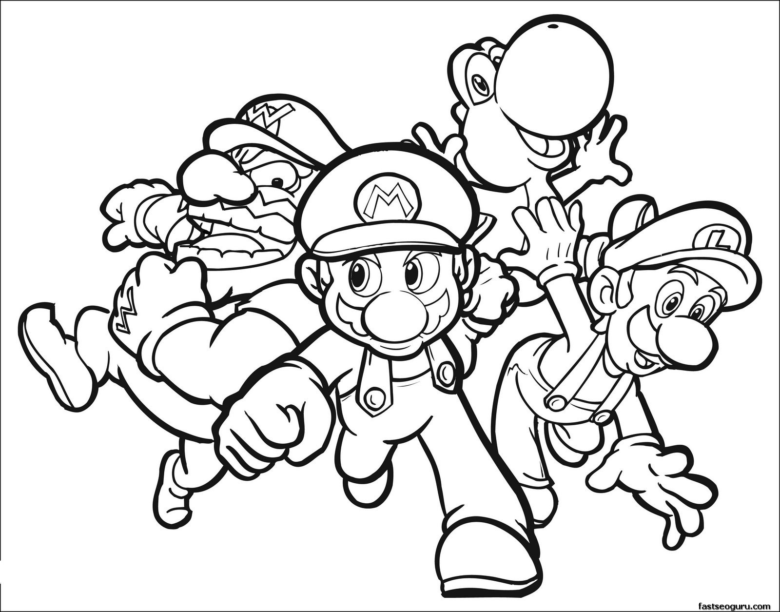 mario coloring pages for boys