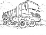 mercedes truck coloring sheets
