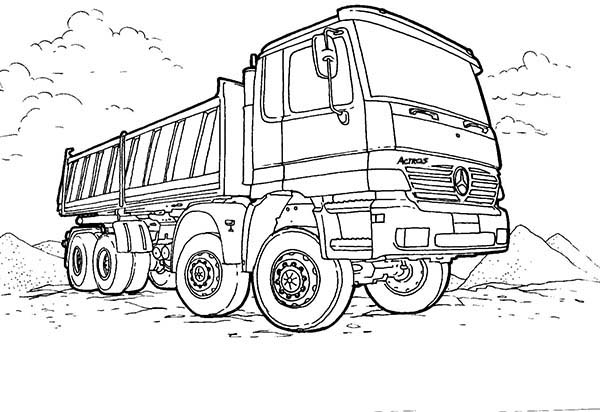 mercedes truck coloring sheets 01