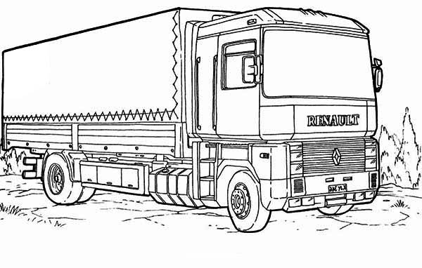 Mercedes Truck Coloring Sheets Only Coloring Pages