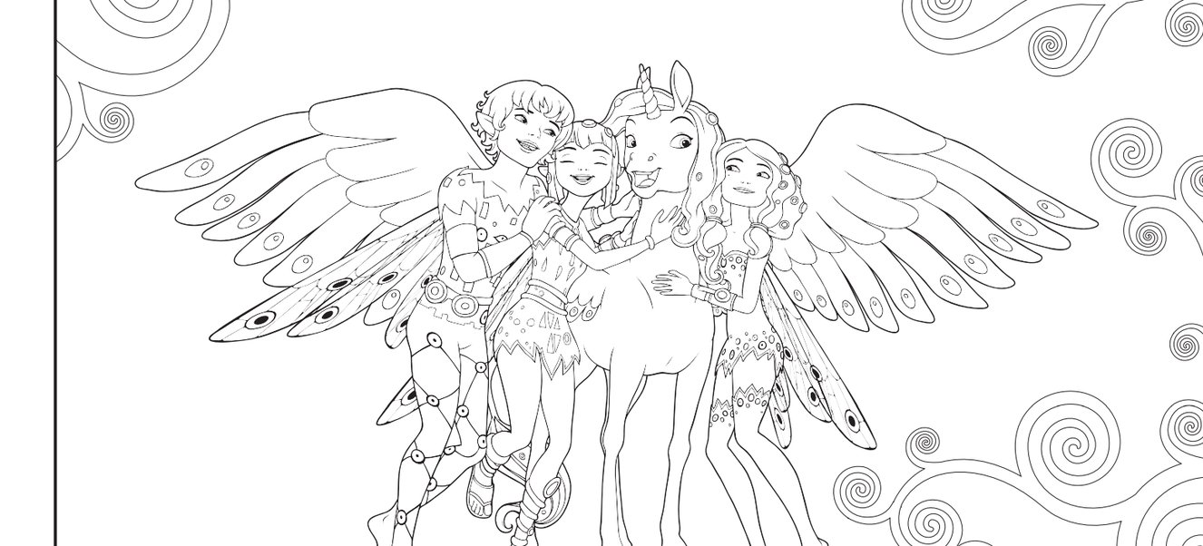 mia and me coloring pages - photo#3