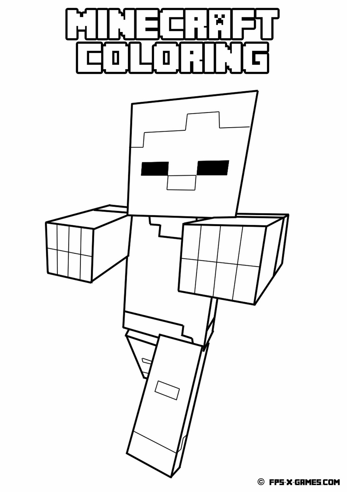 minecraft coloring pages pdf 01