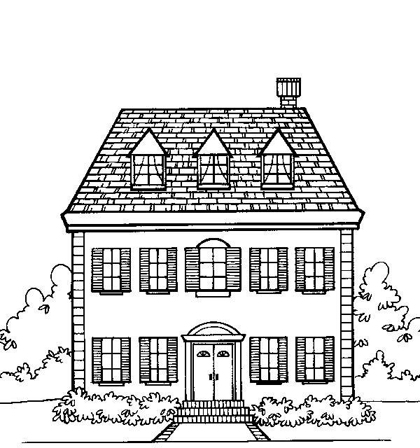 Minecraft House Coloring Pages 01
