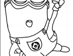 minion png coloring page