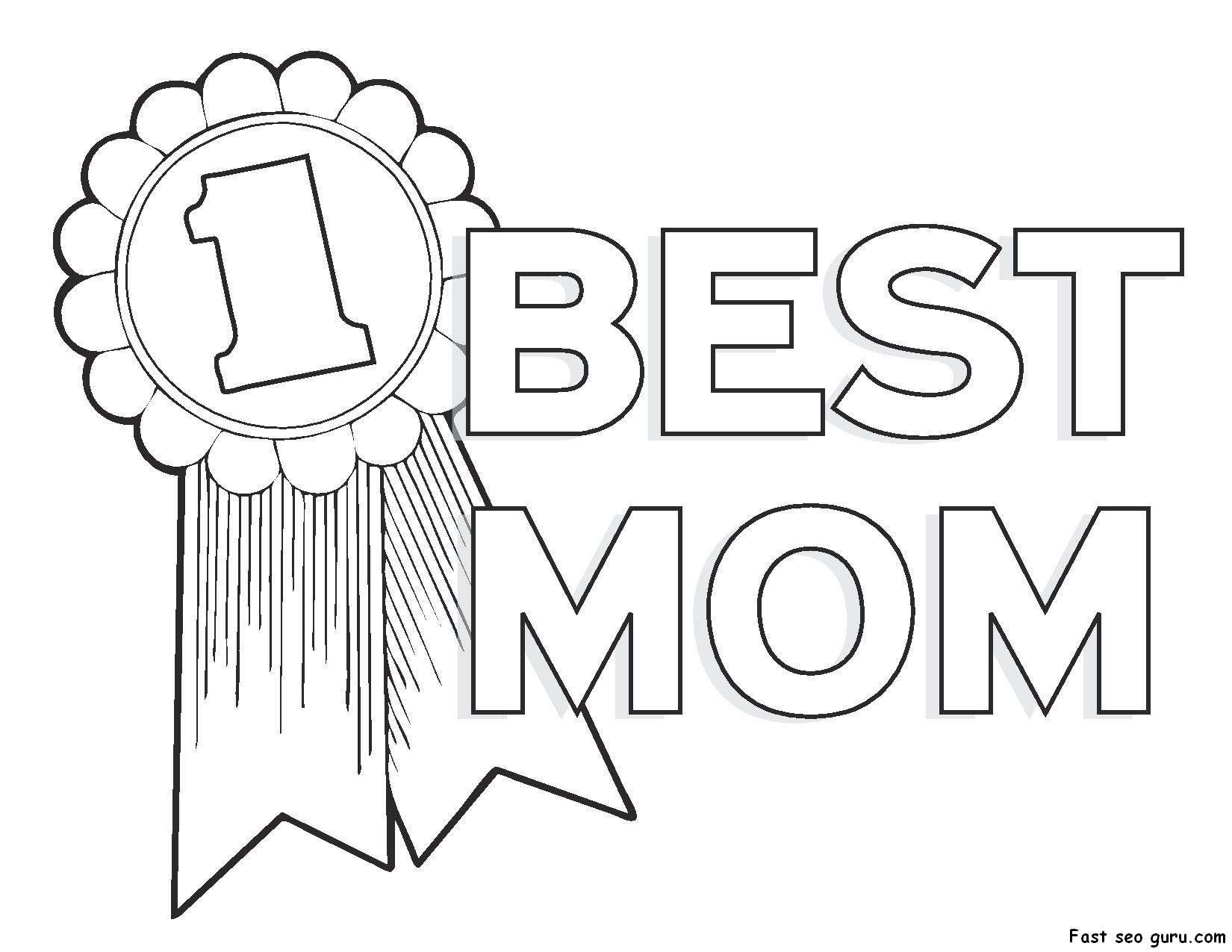 mothers day coloring page 01