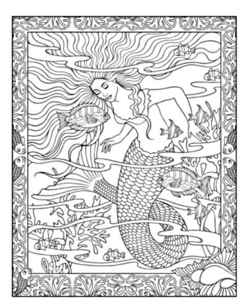 Mythical Mermaids Coloring Book Pinterest Mythical