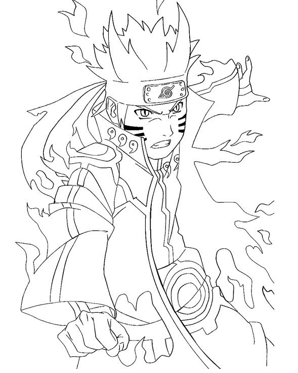 Naruto Coloring Pages Pdf : Naruto coloring pages only