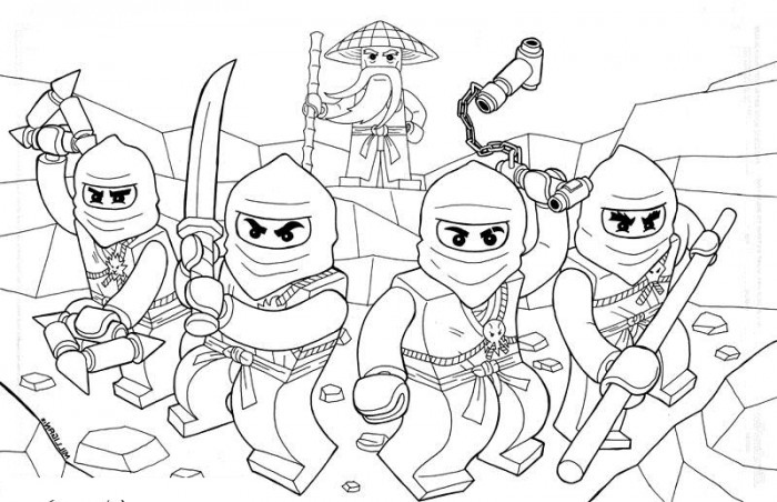 Ninjago Coloring Pages Pdf 01