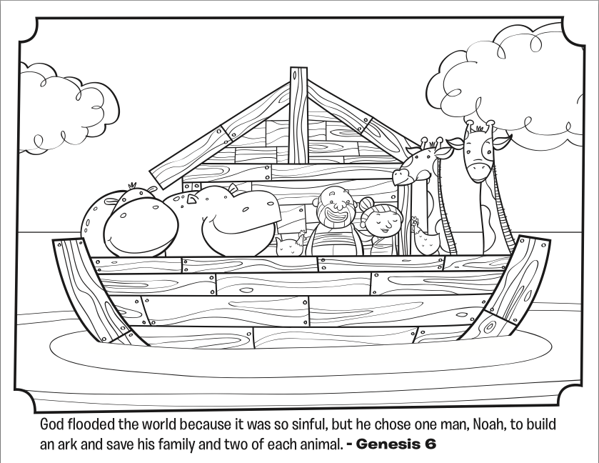 Noah 39 s ark coloring page only coloring pages for Noah s ark printable coloring pages