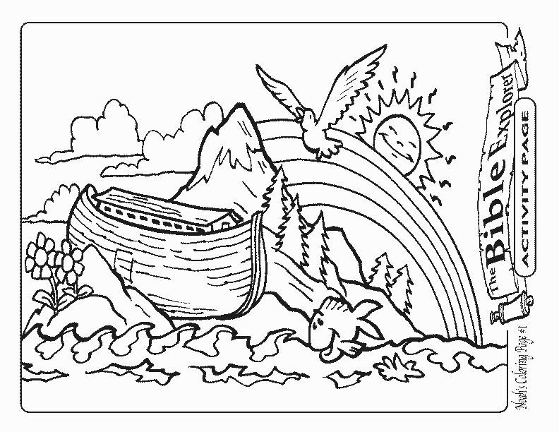 Noahs ark rainbow coloring page coloring pages for Ark coloring page