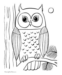 owl coloring pages printable 03