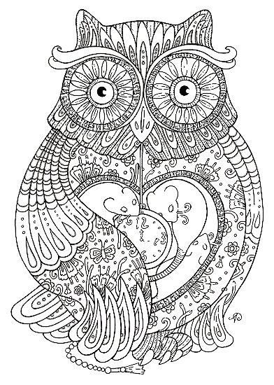owl coloring pages printable 08