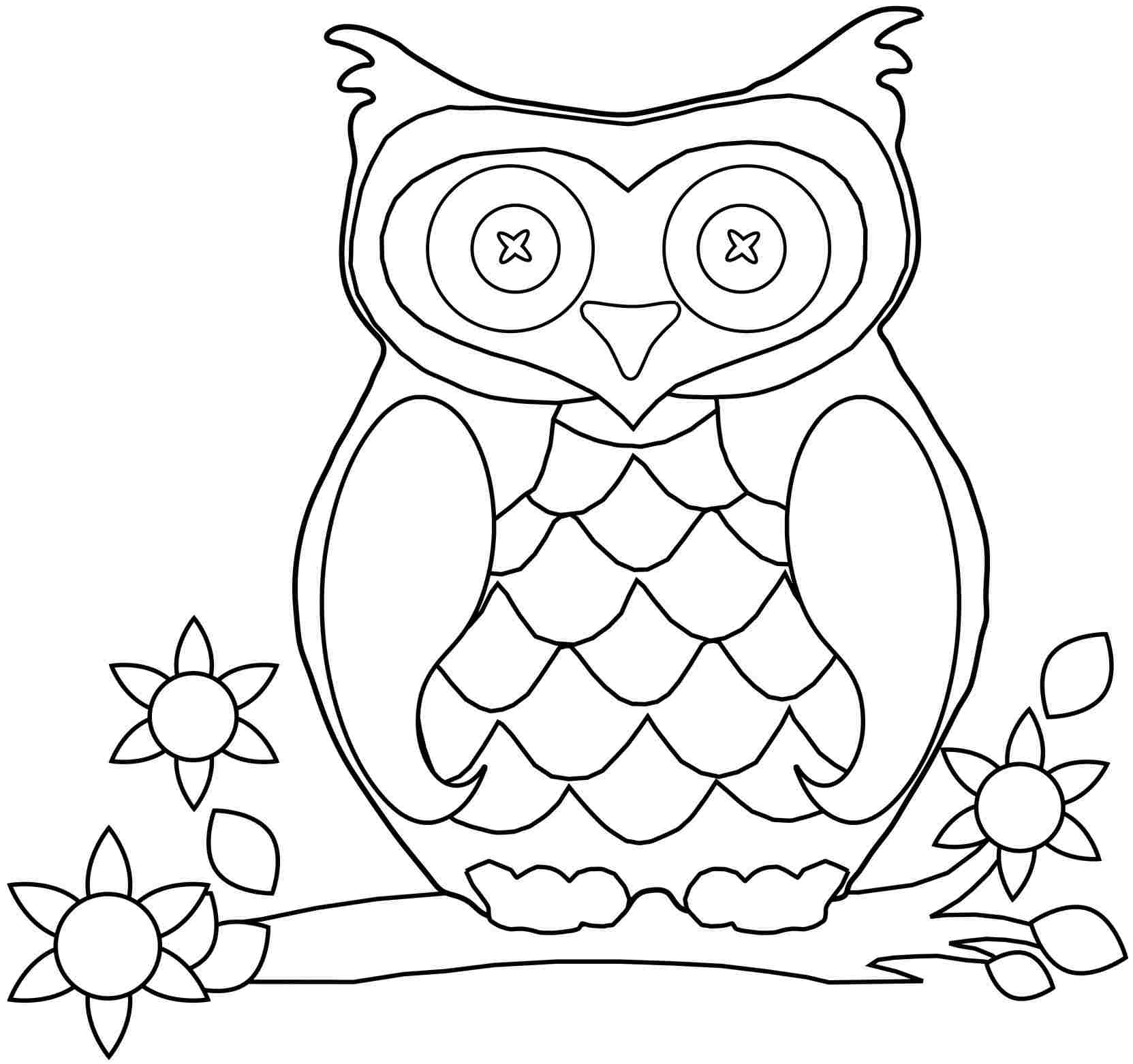 Free Coloring Pages Of Owl Babies