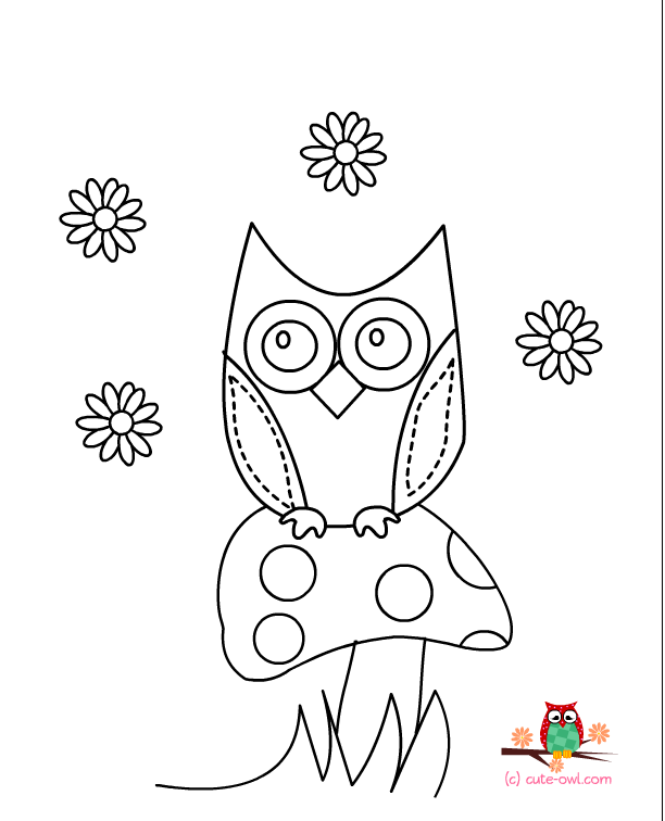 owl coloring pages to print 05