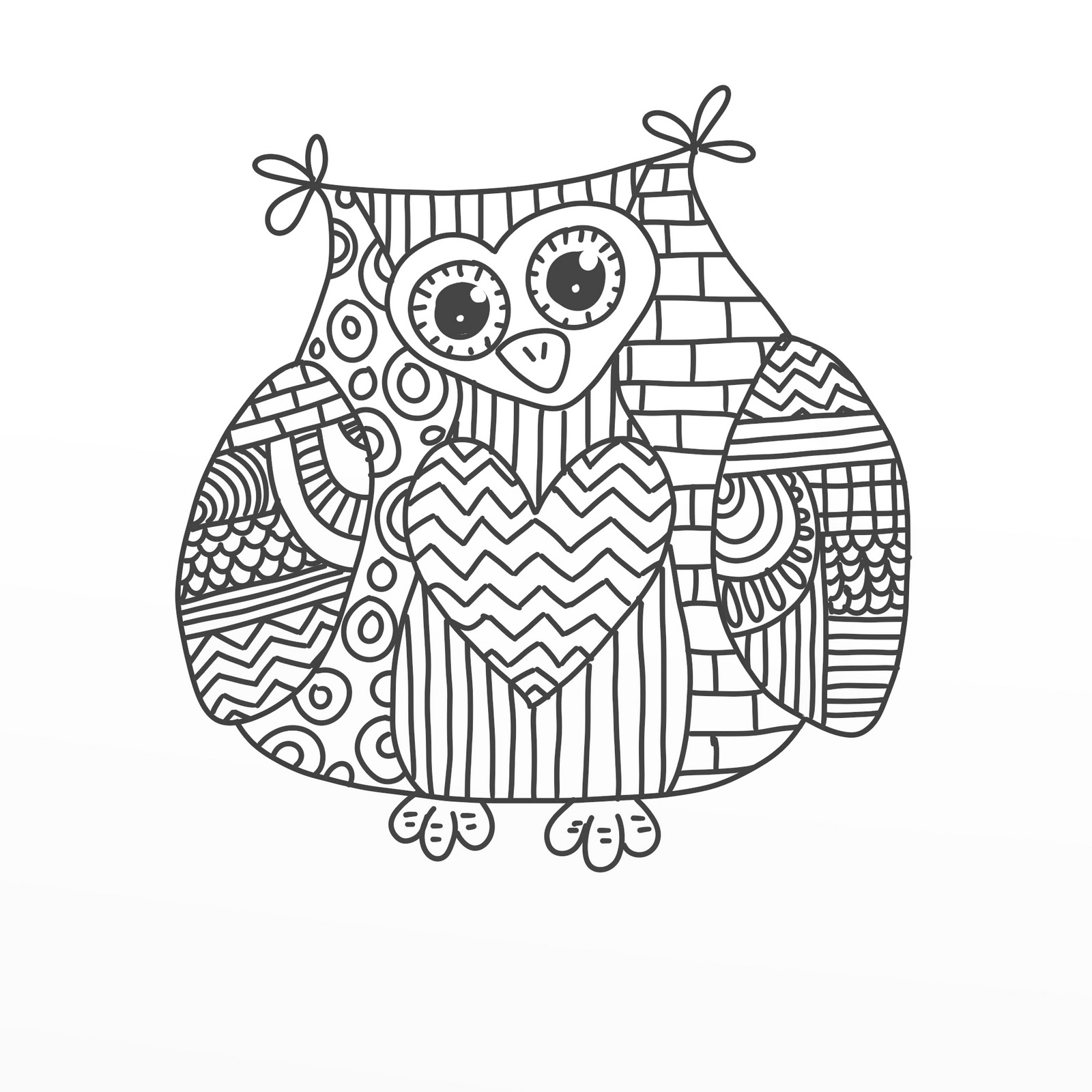 paisley owl coloring pages