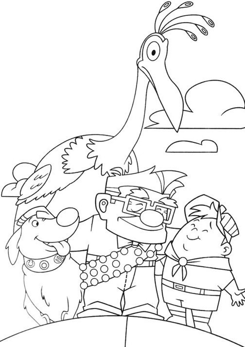 Disney pixar up coloring pages - Coloriage pixar ...