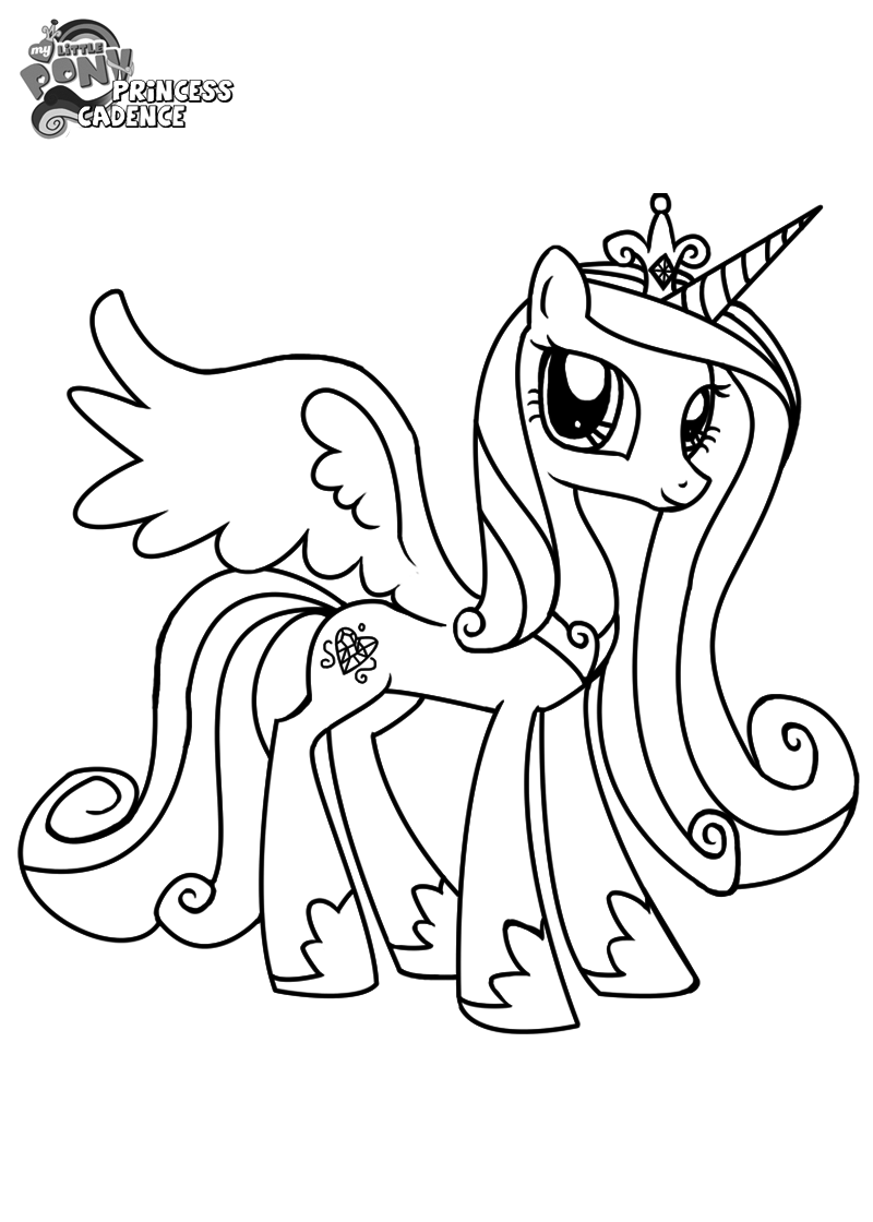 princess cadence coloring pages 01