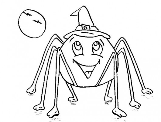 Printable Halloween Spider Coloring Pages 01