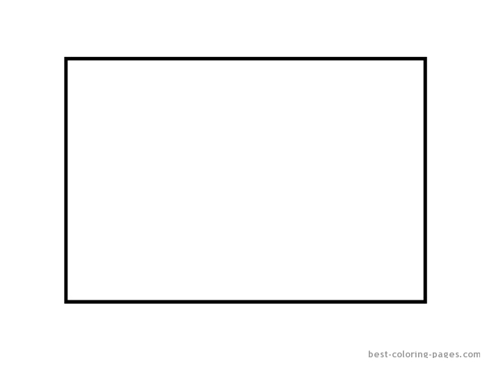 Shape Rectangle Coloring Pages