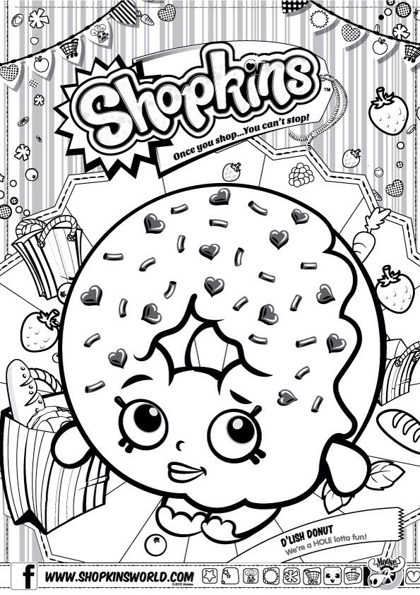 picture about Shopkins Printable Color Pages named shopkin coloring webpages