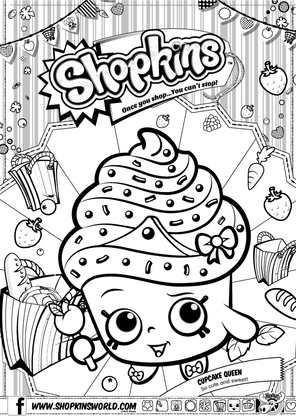 shopkins, pages, coloring