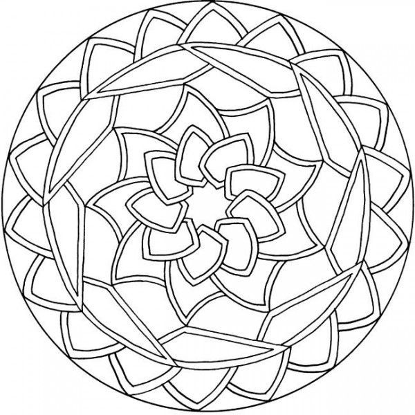simple mandala coloring pages - Animal Mandala Coloring Pages Easy