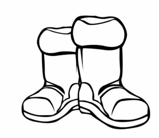 snow boots coloring pages