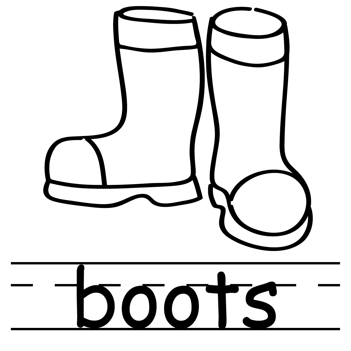 Free Coloring Pages Of Snow Boots